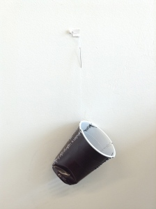 fixed plastic cup (brown)